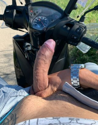 Dick picture on the scooter