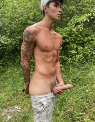 Fit boy with a hard cock