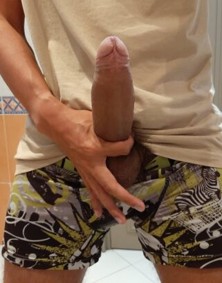 Hard cock out of undies