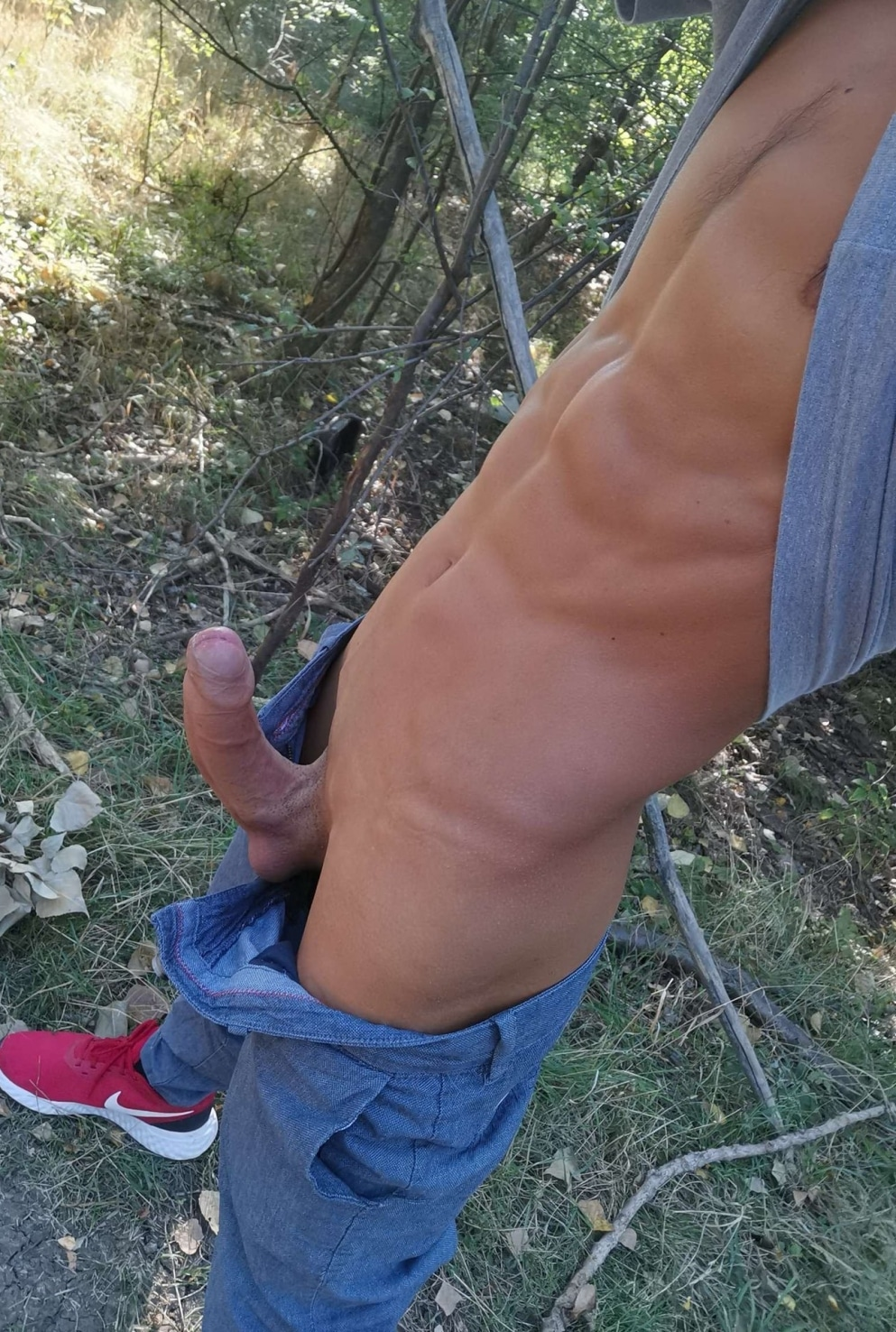 Hard dick picture outdoors