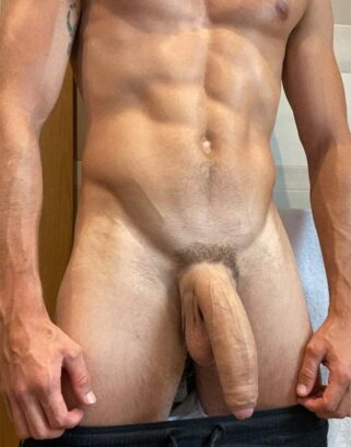 Muscular body and big dick