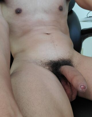 Nude boy with hairy dick