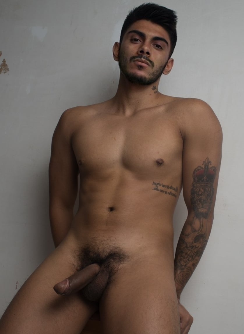 Nude guy with a brown cock