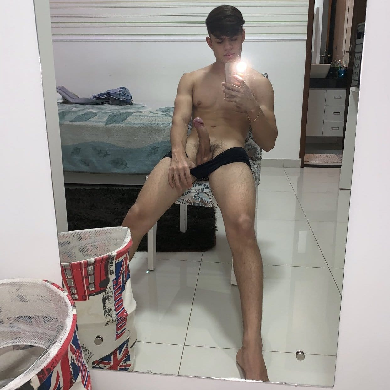 Sexy boy with his dick out