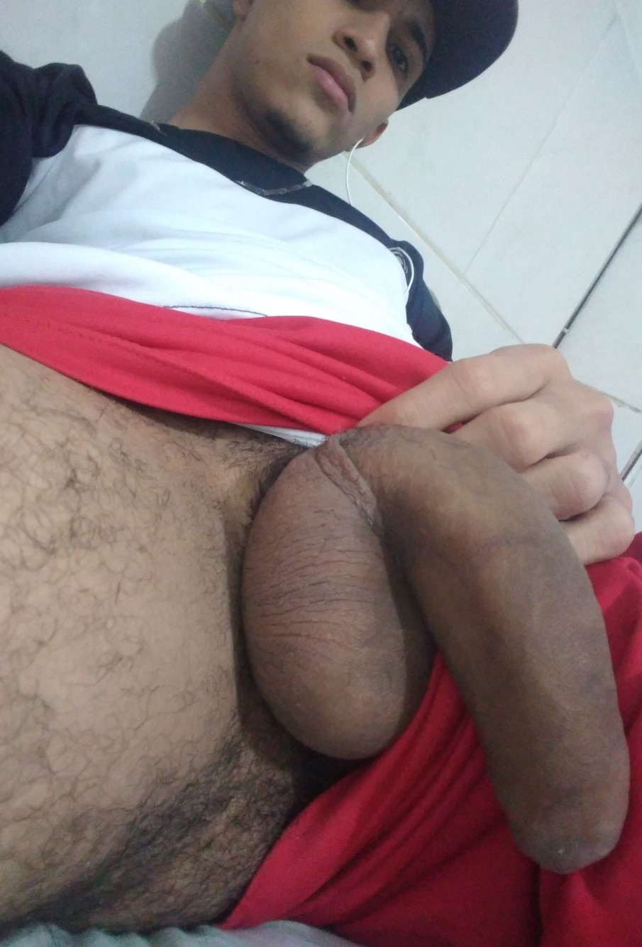 Soft cock with shaved balls
