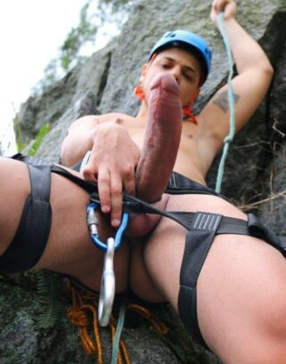 Thick dick outdoors