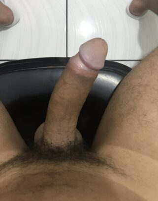 Thick hard Latino boner