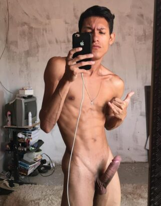 Twink with shaved cock